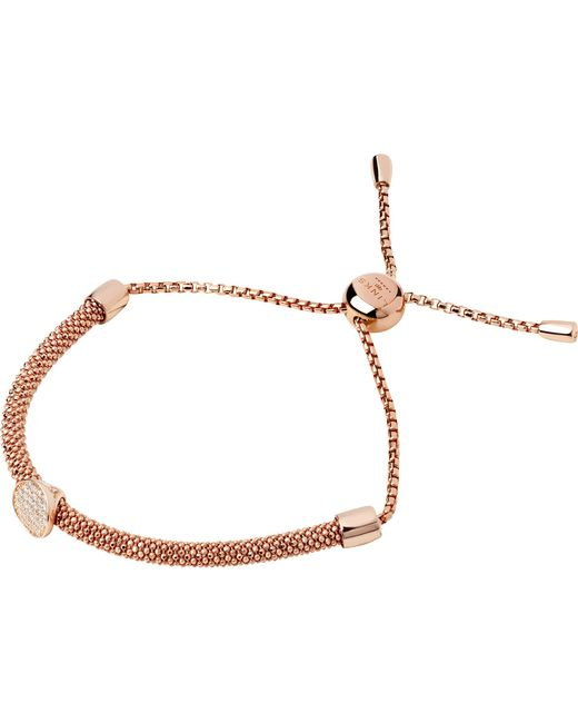Links of London | Metallic Starlight 18ct Rose-gold Vermeil And Sapphire Round Bracelet | Lyst