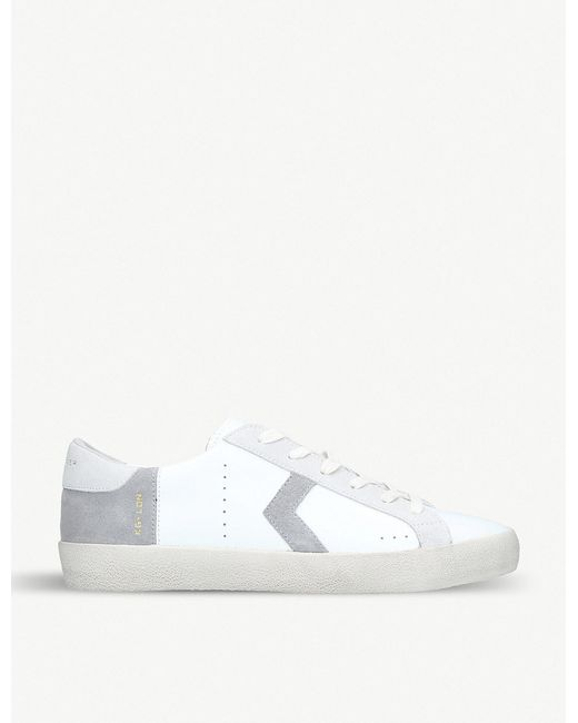 Kurt Geiger - White Fairmont Mixed-leather Low-top Trainers for Men - Lyst