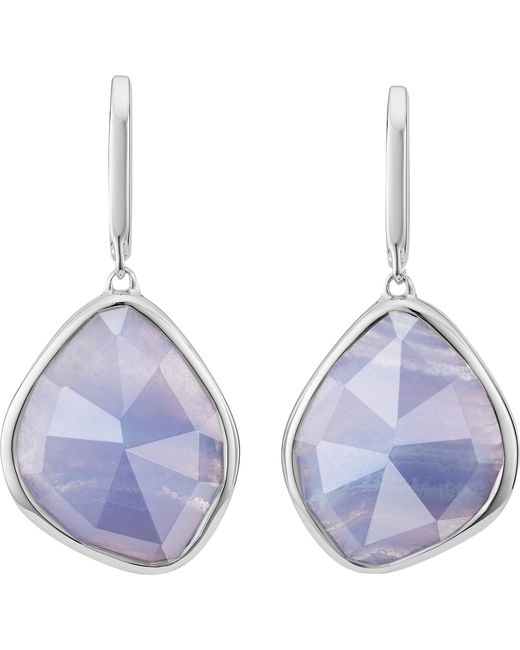 Monica Vinader - Siren Sterling Silver Blue Lace Agate nugget Earrings - Lyst