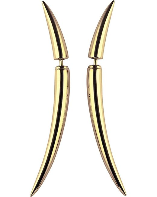 Shaun Leane - Metallic Quill Gold Plate Earrings Size 1 - Lyst