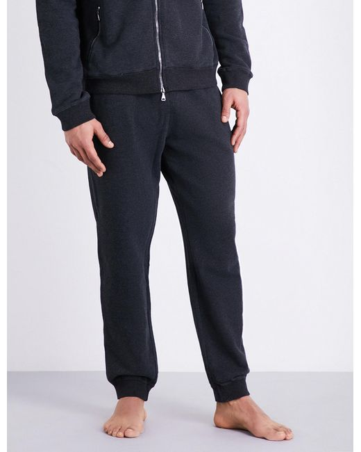Derek Rose | Gray Devon Cotton-jersey Jogging Bottoms for Men | Lyst