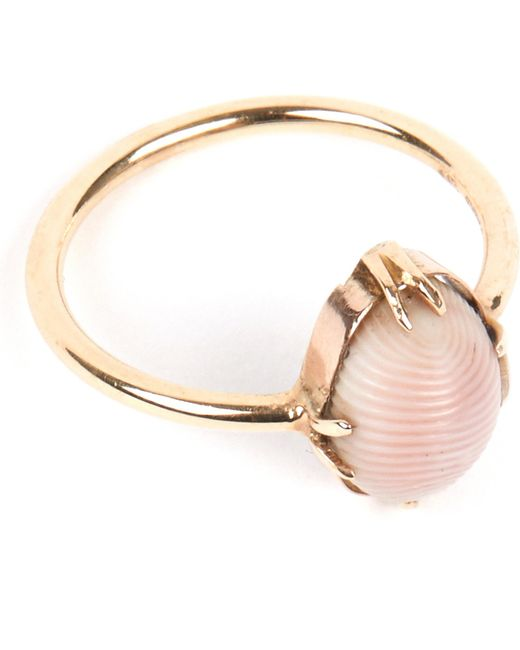 Annina Vogel - Metallic 9 Carat Gold And Conch Shell Ring - Lyst