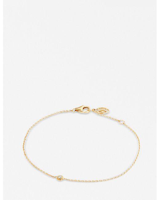 Cartier - Metallic Diamants Légers De 18ct Yellow-gold And Diamond Bracelet - Lyst