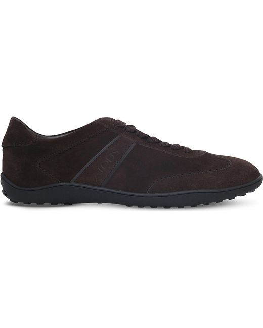 Tod's - Brown Lo Pro Suede Trainers for Men - Lyst