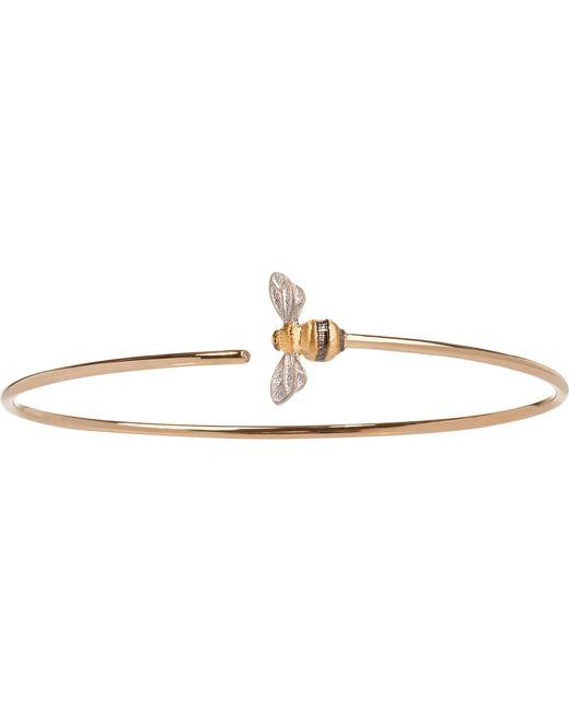 Annoushka - Metallic Bee 18ct Yellow-gold And Diamond Bangle - Lyst