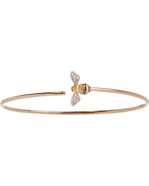 Annoushka - Black Bee 18ct Yellow-gold And Diamond Bangle - Lyst