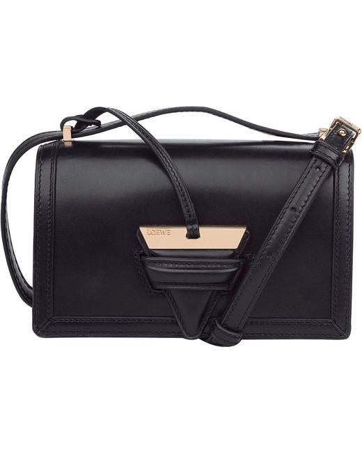 Loewe - Black Barcelona Small Python And Leather Shoulder Bag - Lyst