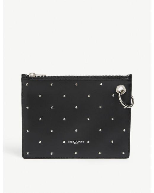 The Kooples Black Studded Leather Wallet