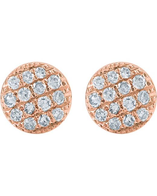 The Alkemistry | Metallic Lauren Joy Mini 14ct Rose-gold And Diamond Earrings | Lyst