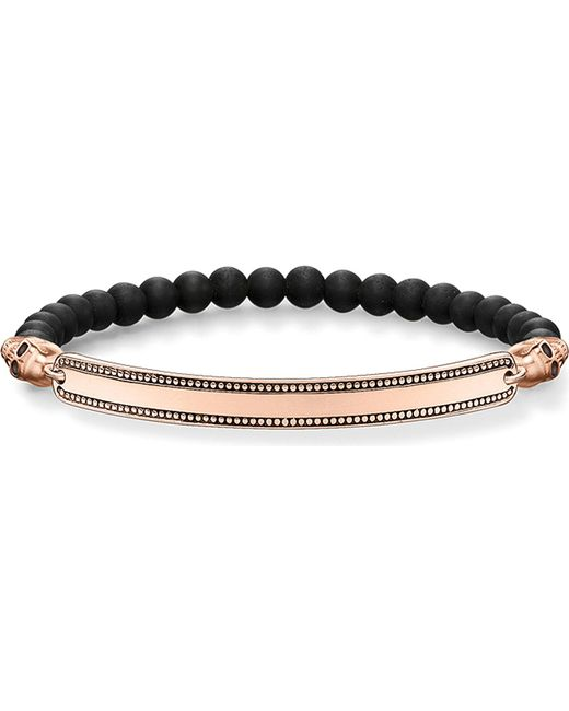 Thomas Sabo | Pink Skull Love Bridge 18ct Rose Gold-plated Bracelet | Lyst