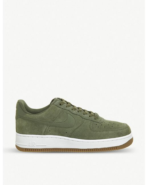 Nike - Green Air Force 1 '07 Suede Trainers for Men - Lyst
