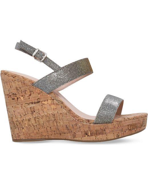 Carvela Kurt Geiger - Kay Metallic Wedge Sandals - Lyst