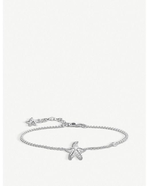 Thomas Sabo - Metallic Glam & Soul Sterling Silver Starfish Bracelet - Lyst