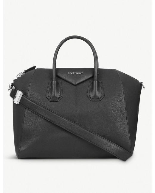 Givenchy Black Antigona Sugar Medium Soft-grained Leather Tote