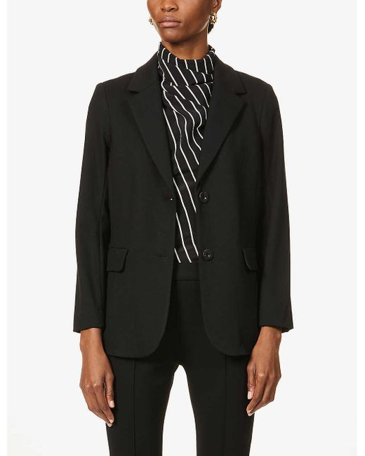 Rosetta Getty Black Single-breasted Stretch-jersey Blazer
