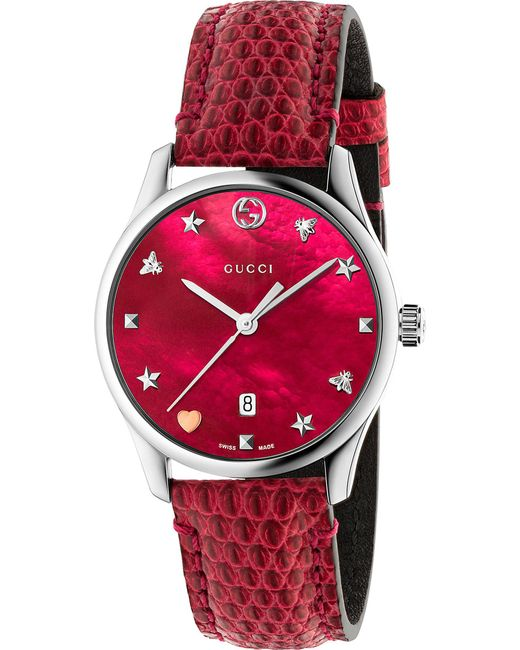 Gucci - Red G-timeless Watch, 36mm - Lyst