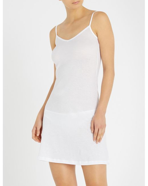 Hanro White Ultra-light Body Dress
