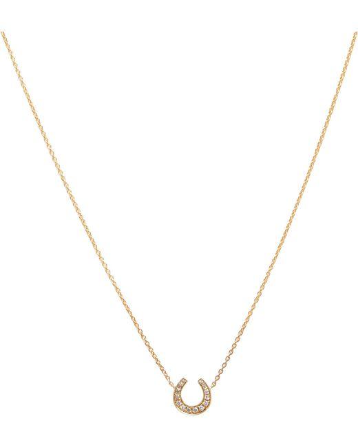Annoushka   Metallic Love Diamonds 18ct Yellow-gold And Diamonds Horseshoe Pendant Necklace   Lyst