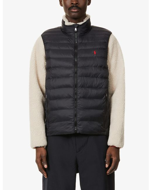 Polo Ralph Lauren Black Quilted-down Shell Gilet for men