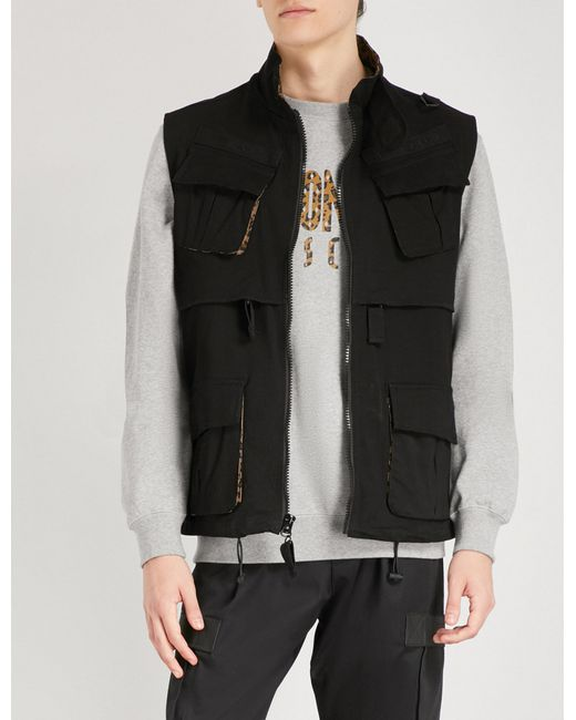 BBCICECREAM - Black Safari Stretch-cotton Gilet for Men - Lyst