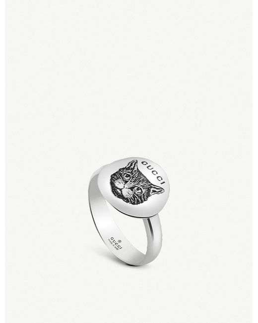 c404a13ef Gucci Blind For Love Sterling Silver Ring in Metallic - Lyst