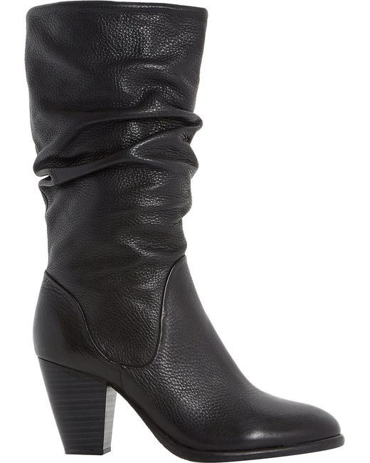 Dune | Multicolor Ladies Black Comfortable Rossy Leather Calf Boots | Lyst