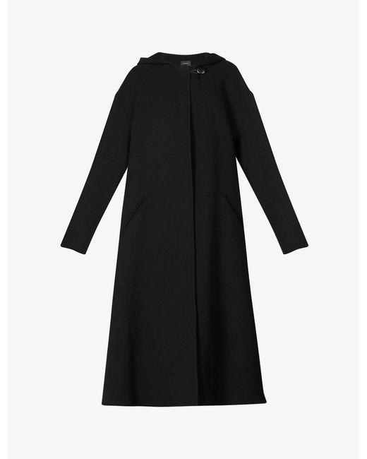 Isabel Marant Black Ifhacene Hooded Wool-blend Coat