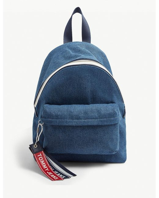 189f5b30 Tommy Hilfiger Tj Small Logo Tape Backpack in Blue - Lyst