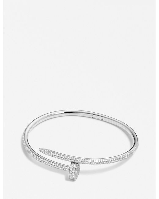 Cartier | Juste Un Clou 18ct White-gold And Diamond Bracelet | Lyst