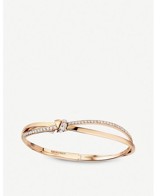 Chaumet Metallic Liens Séduction 18ct Rose-gold And Diamond Bracelet