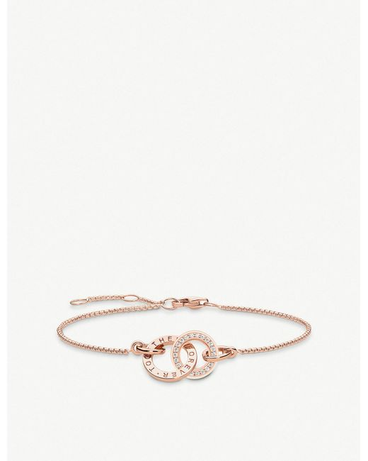 Thomas Sabo - Metallic Together Forever Rose Gold-plated Cubic Zirconia Bracelet - Lyst