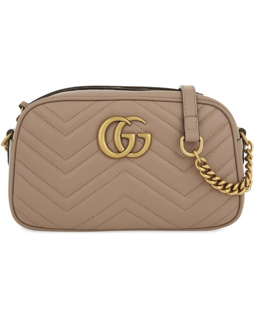 Gucci Multicolor Women's Rose Pink Marmont Leather Shoulder Bag