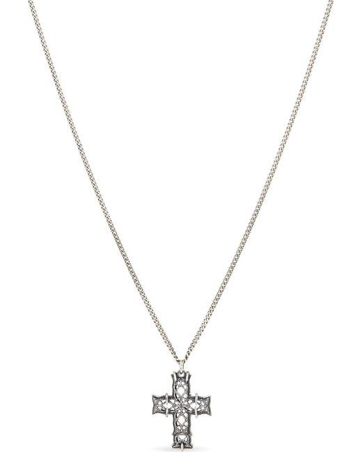 Emanuele Bicocchi - Metallic Engraved Cross Silver Necklace for Men - Lyst