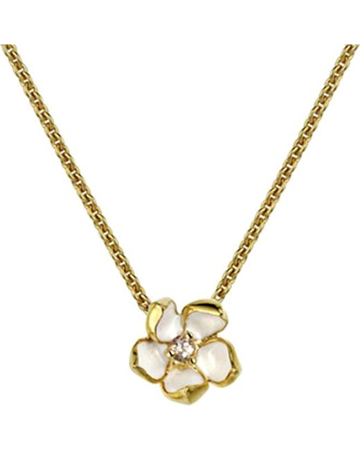 Shaun Leane - Metallic Sterling Silver Gold Vermeil Cherry Blossom Necklace Size 1 - Lyst