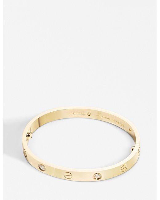 Cartier - Love 18ct Yellow-gold And Diamond Bracelet - Lyst