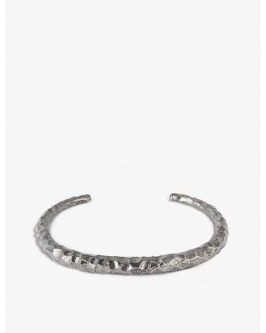 All_blues - Black Fat Snake Sterling Silver Carved Bracelet - Lyst