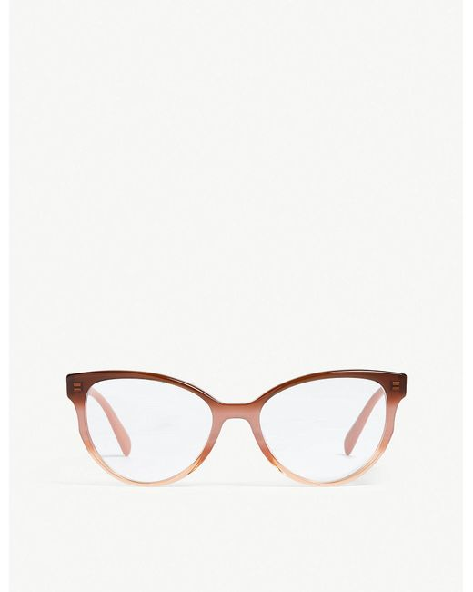 e8eef306b2c Prada - Multicolor Womens Bordeaux Red Heritage Pr01uv Optical Glasses -  Lyst