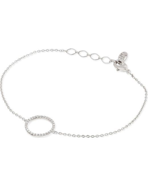 Astrid & Miyu   Metallic Tuxedo Rhodium Circle Bracelet   Lyst