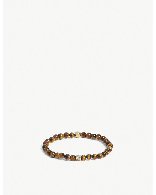 Nialaya - Multicolor Tiger Eye Bead Bracelet for Men - Lyst