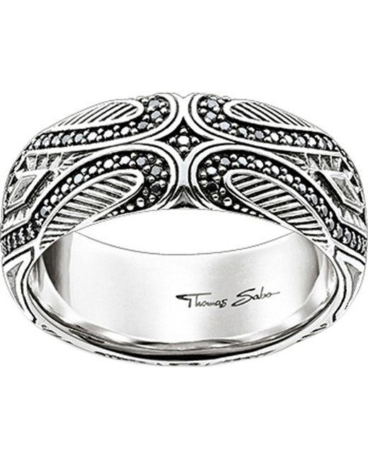 Thomas Sabo - Metallic Rebel At Heart Maori Sterling Silver Ring - Lyst