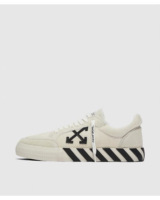 Off-White c/o Virgil Abloh White Vulc Striped Low-top Canvas Trainers for men