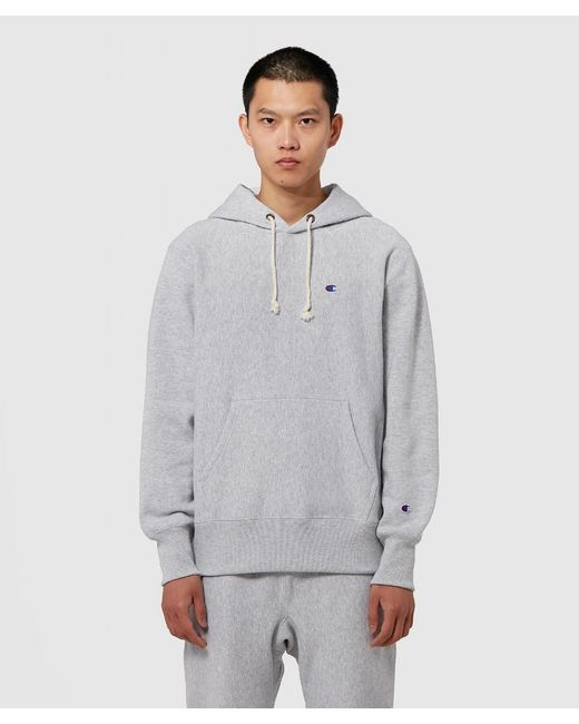 Champion Gray Hooded Sweatshirt for men