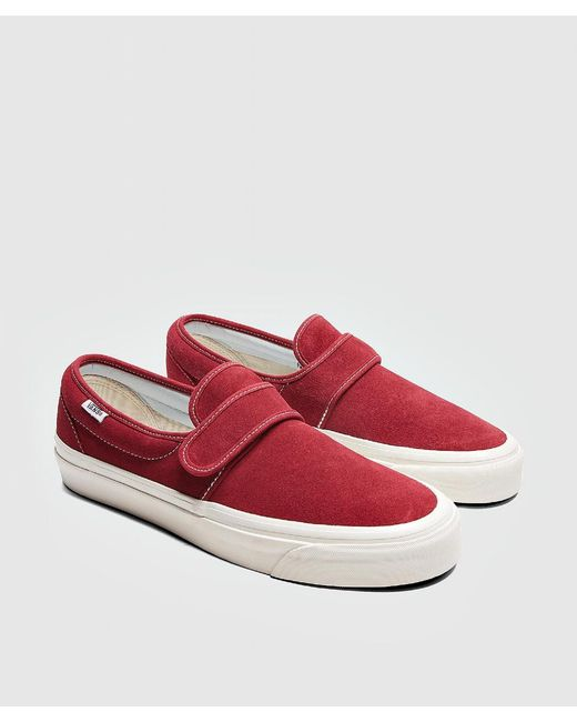 83351d0e9c Vans Burgundy 47 Slip On Suede Sneakers in Red for Men - Save 64% - Lyst