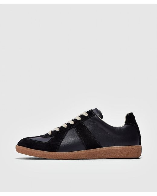 Maison Margiela Black Replica Low Top Sneaker for men