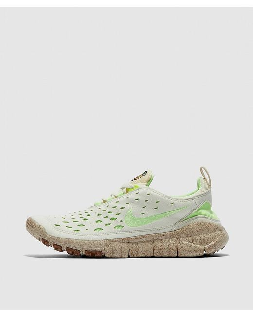 Nike White Free Run Trail Sneaker for men