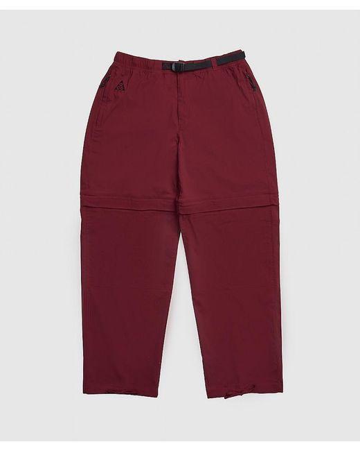 Nike Red Acg Convertible Pant for men
