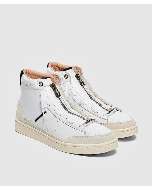 Men's White X Ibn Jasper Pro Leather Mid Sneaker