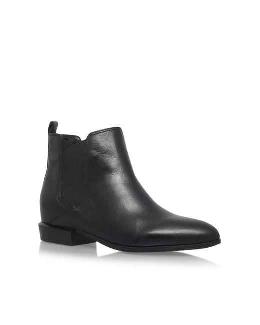 Nine West - Black Pleaser3 Low Heel Ankle Boots - Lyst