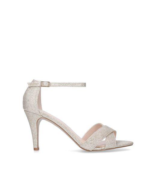 Gold 'Kaller' mid heel sandals cheap price store mxVSz7Bi