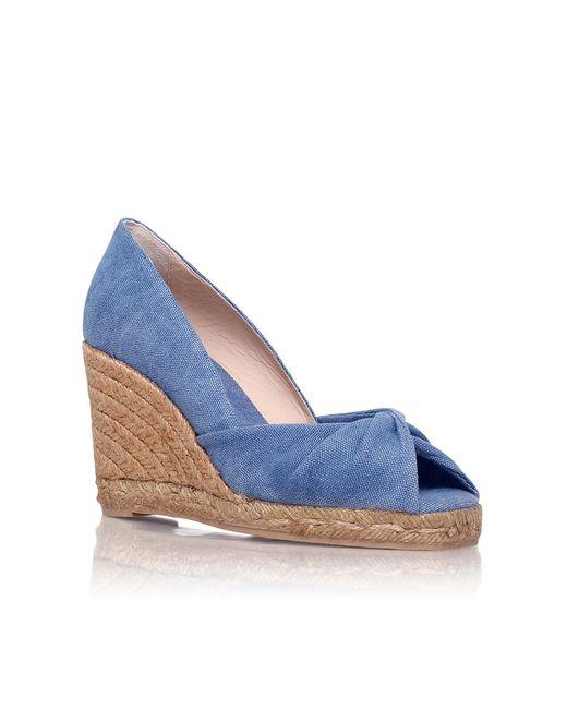 Castaner | Blue Tulsa 8 High Wedge Heel Peep Toe Court | Lyst